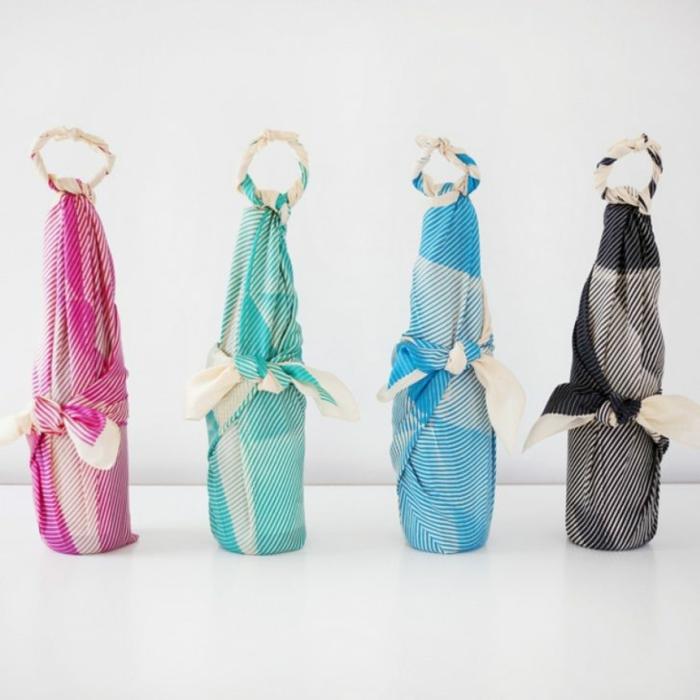 bouteilles furoshiki inspiration
