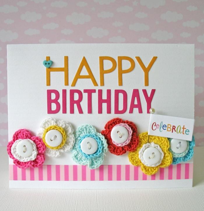 boutons carte d' anniversaire idées