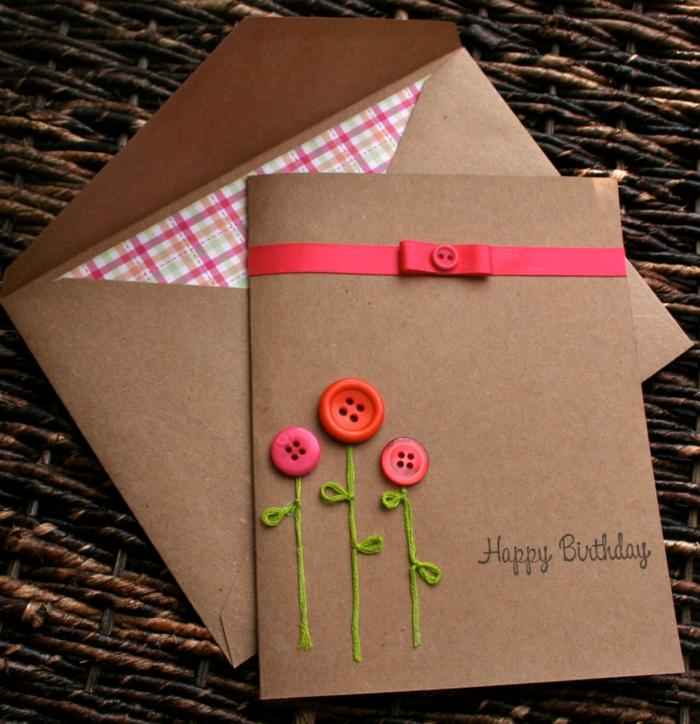 boutons colorés carte d' anniversaire