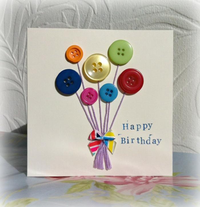 boutons idée carte d' anniversaire