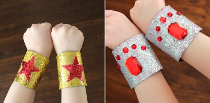 bracelets enfants rouleaux papier toilette