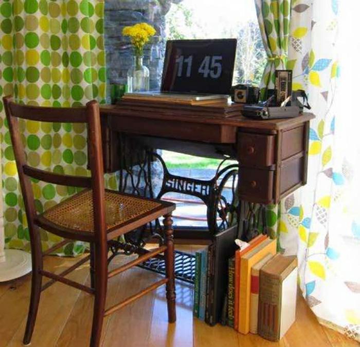 bureau machine à coudre