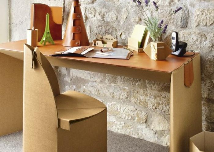 bureau meubles en carton objets déco