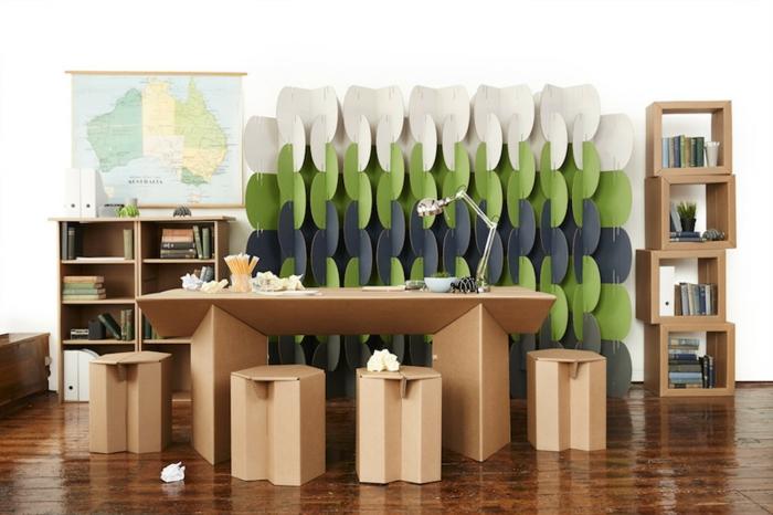 bureau meubles en carton