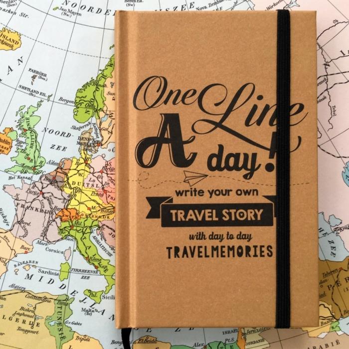 carnet de voyage-one line a day