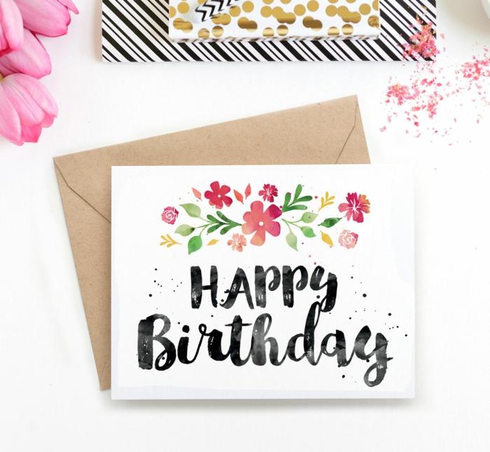 carte d' anniversaire facile