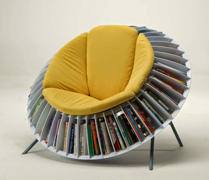 chaise confortable et pratique meuble bibliothèque