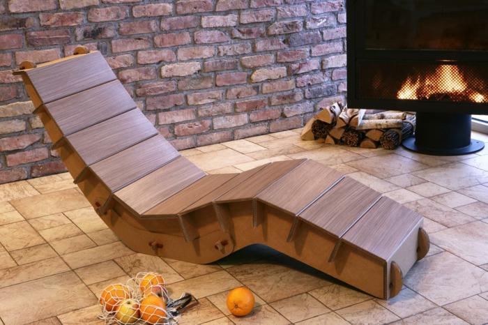 chaise longue meubles en carton