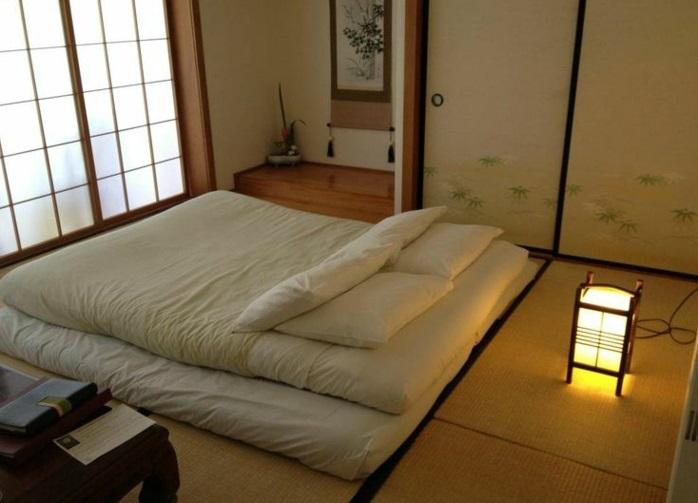chambre à coucher traditionnelle japonaise