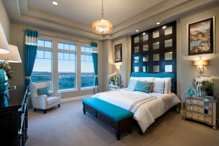 Chambre A Coucher Bleu Canard : Chambre bleu canard idées d aménagement à ne pas manquer