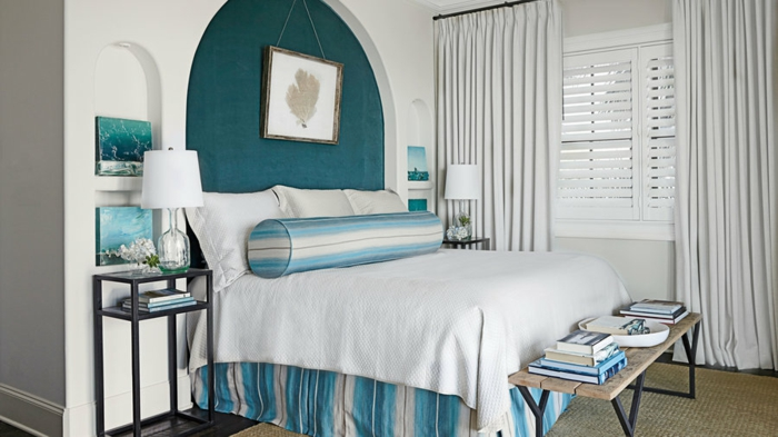 chambre blanche et turquoise good deco chambre fushia amazing cevellecom idee de deco chambre. Black Bedroom Furniture Sets. Home Design Ideas
