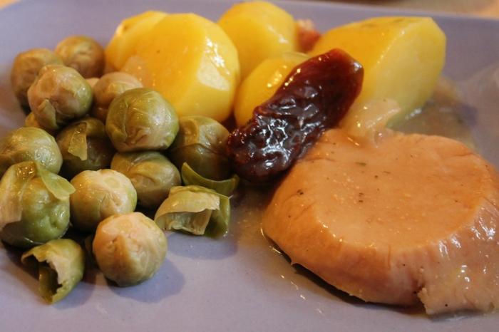 choux de Bruxelles et pommes de terre