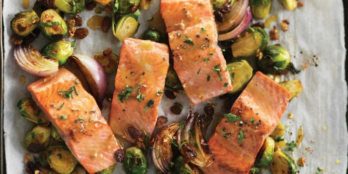 choux de Bruxelles préparer avec saumon