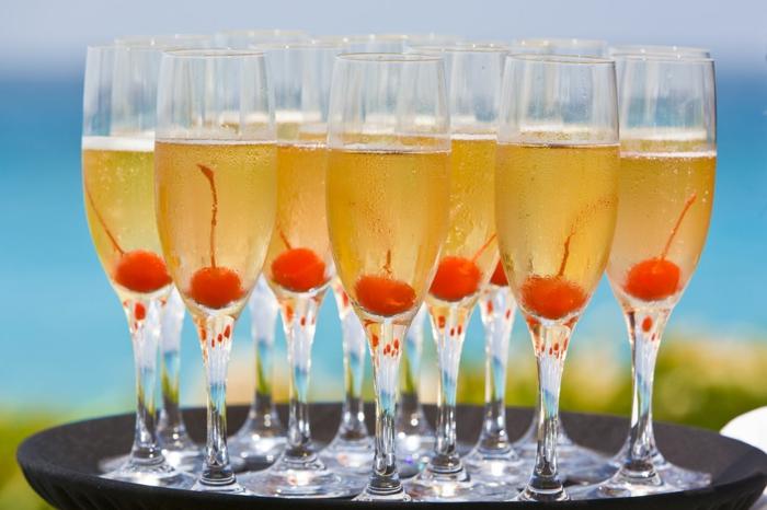 cocktail soupe de champagne cerise