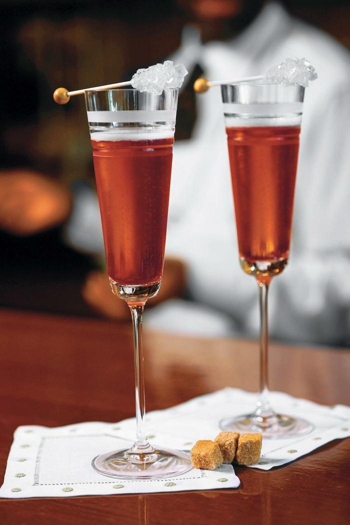 cocktail soupe de champagne et grenade