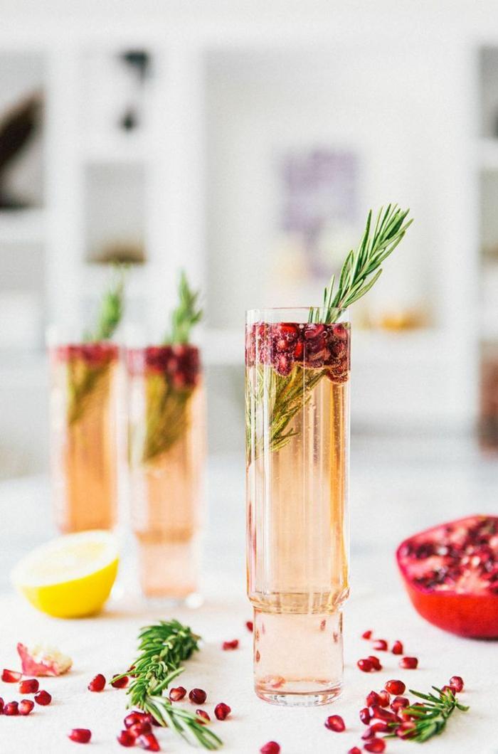 cocktail soupe de champagne grenade