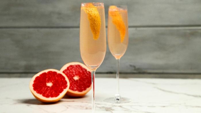 cocktail soupe de champagne pamplemousse