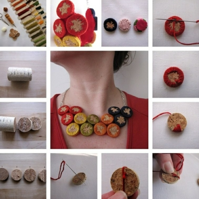collier bouchons de liège