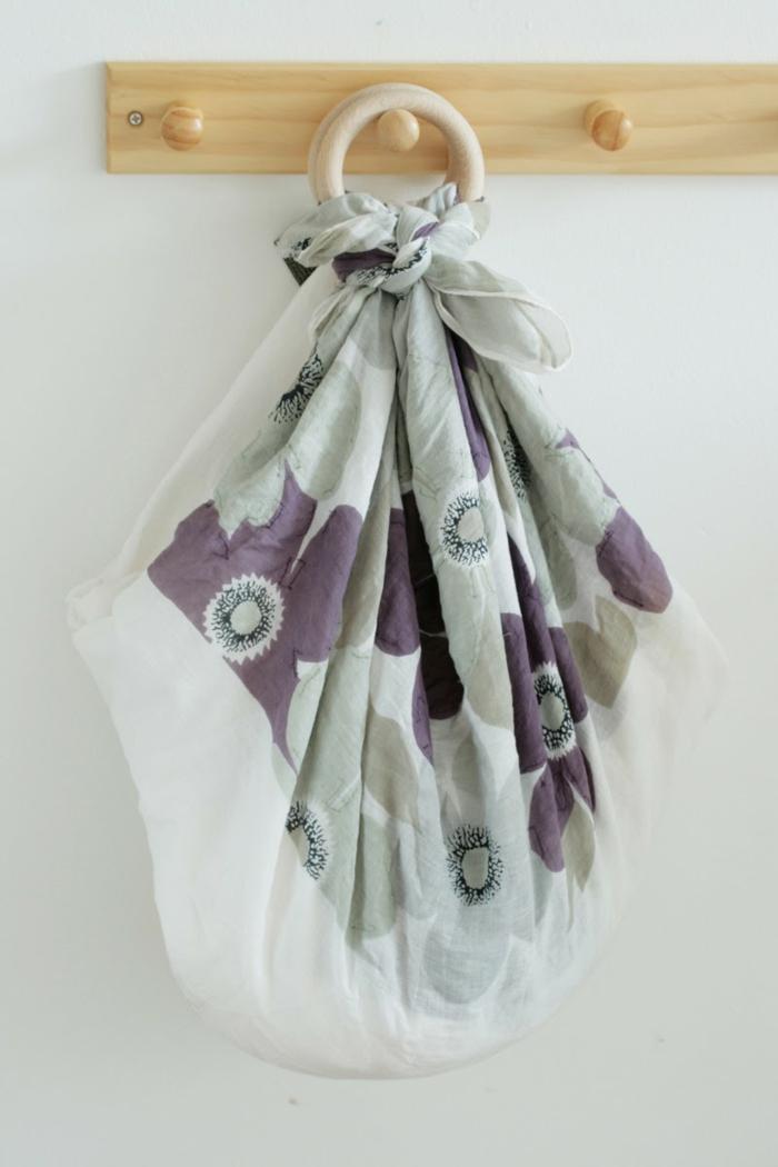 comment faire le furoshiki - un sac avec anneaux