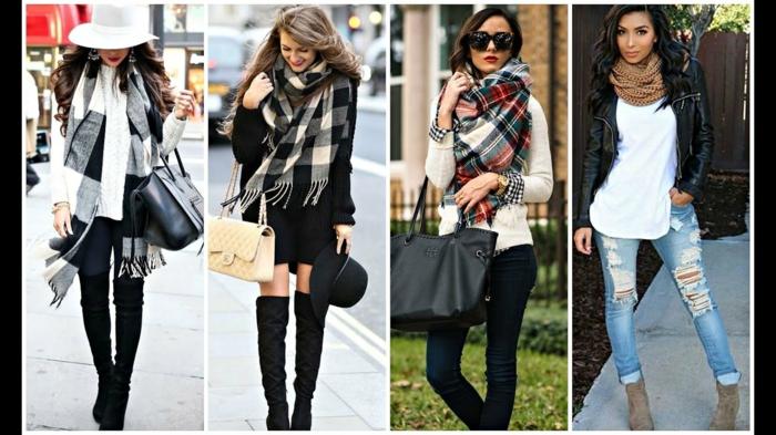comment porter écharpe femme