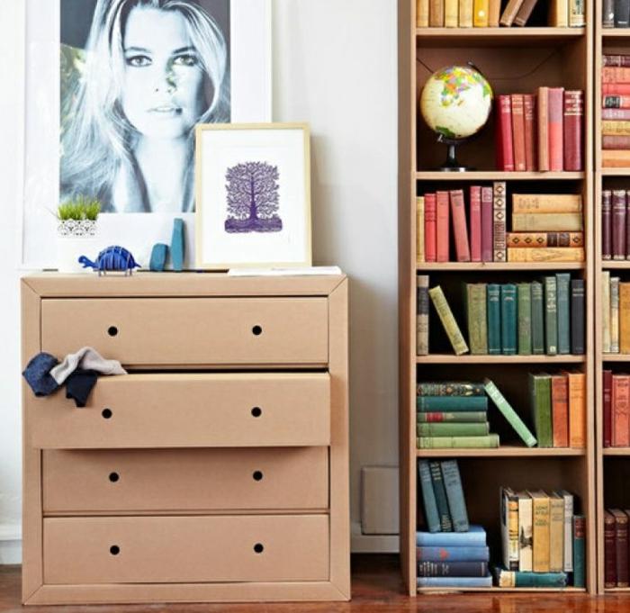 commode meubles en carton