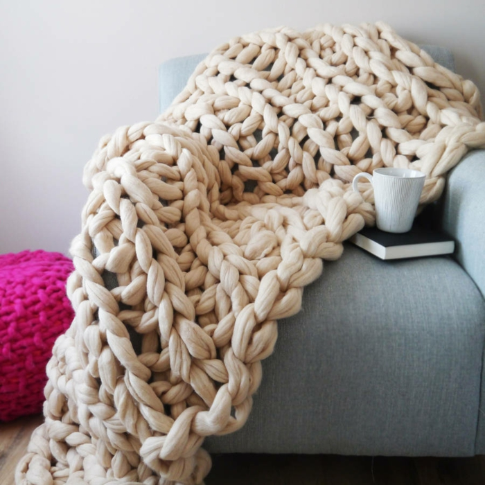 couverture arm knitting