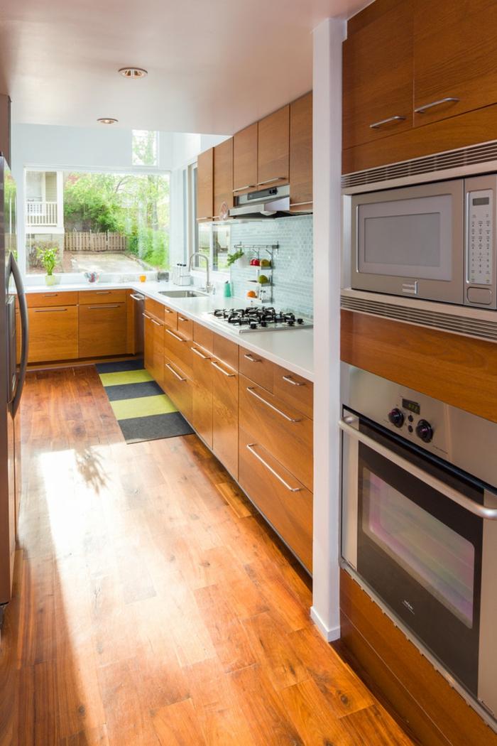 cuisine ikea couleurs chaudes électroménager encastrable