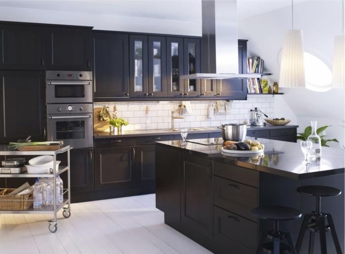 cuisine ikea noir style industriel