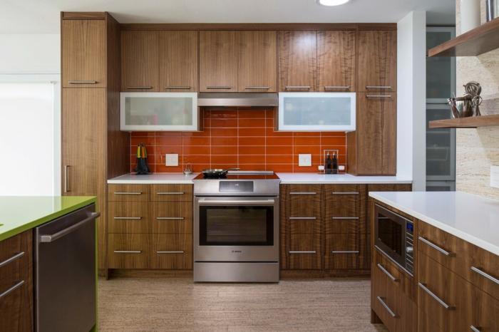 cuisine ikea placards meuble colonne rangements muraux chêne marron clair