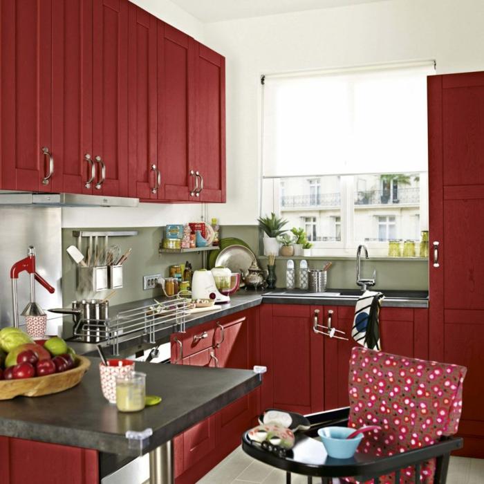 cuisine ikea rouge laque
