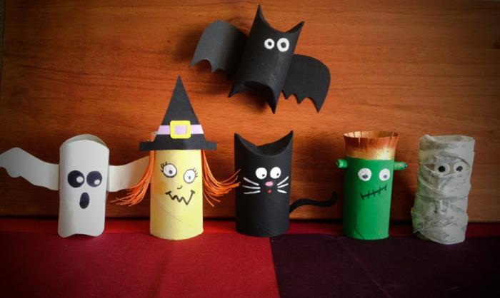 déco halloween tubes papier toilette