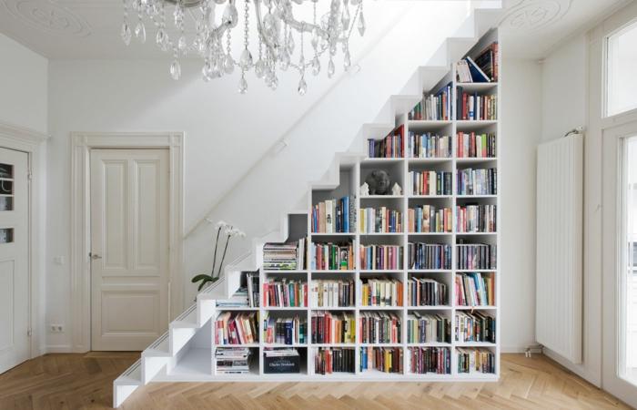 déco idées meuble bibliothèque moderne