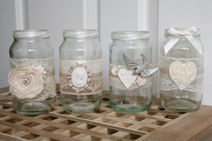 déco mariage bocaux en verre