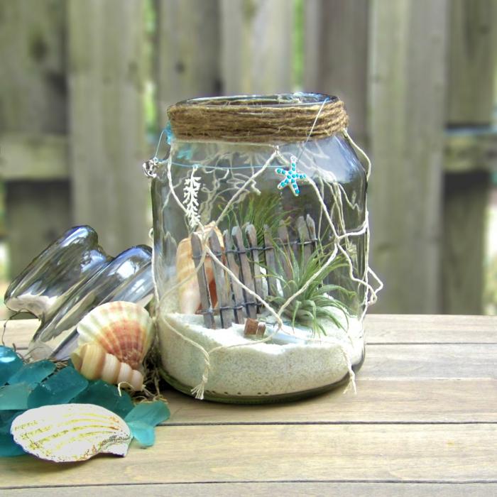 déco thématique mer bocal verre