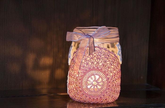 décoration photophore diy bocaux verre