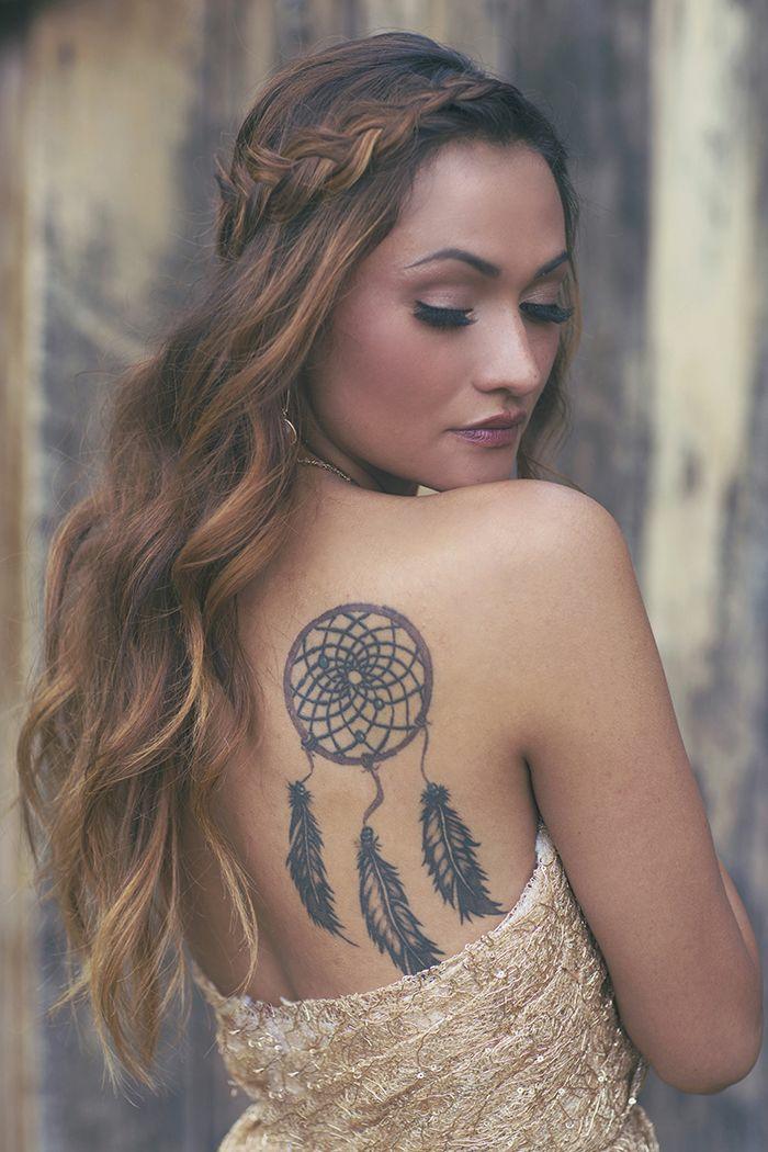 design tatouage femme attrape-rêve