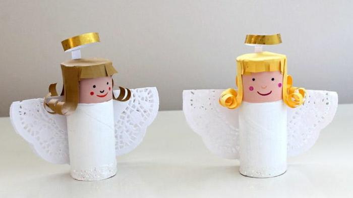 diy ange de rouleaux de papier toilette