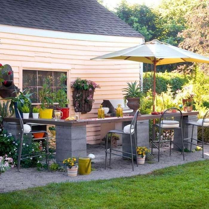 diy bar jardin parpaings