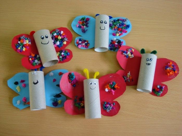 diy déco tubes de papier toilette papillons