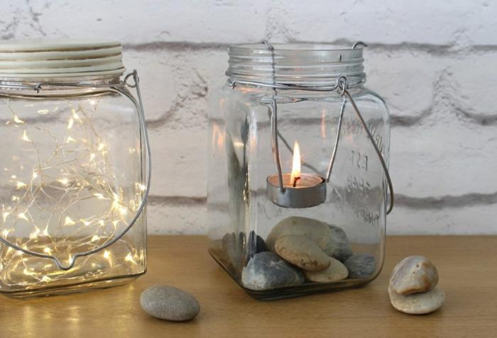 diy décoration bocaux en verre transformés