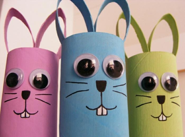 diy lapins de rouleaux papier toilette peinture