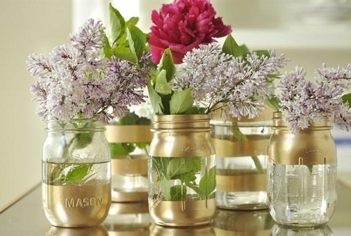 diy mason jar vases bocaux