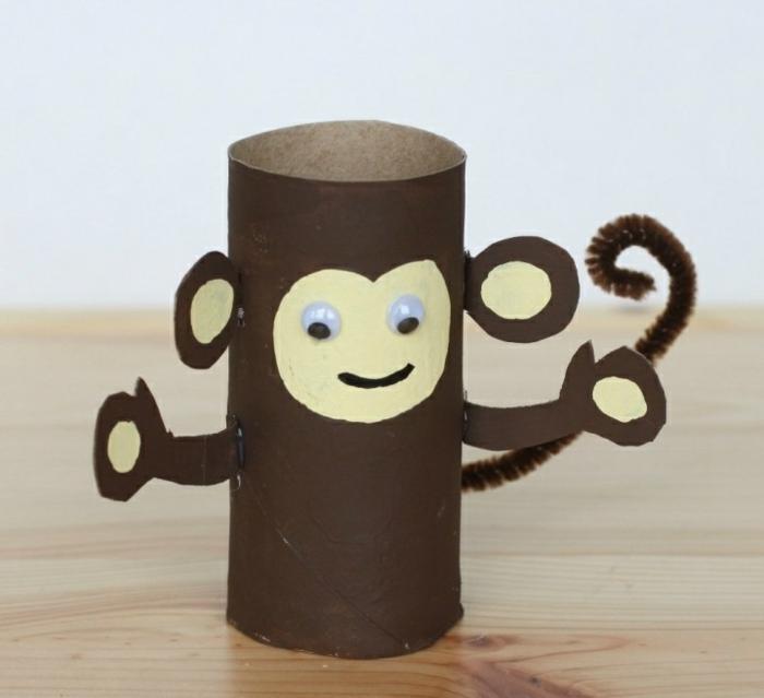 diy singe rouleau papier toilette