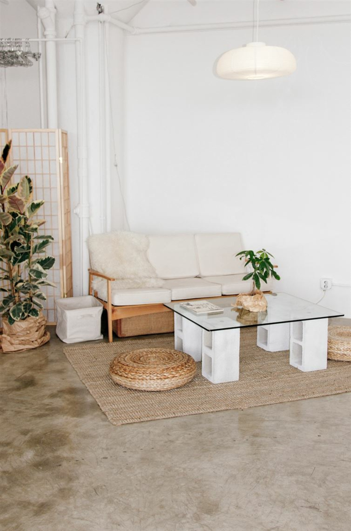 diy table basse parpaings