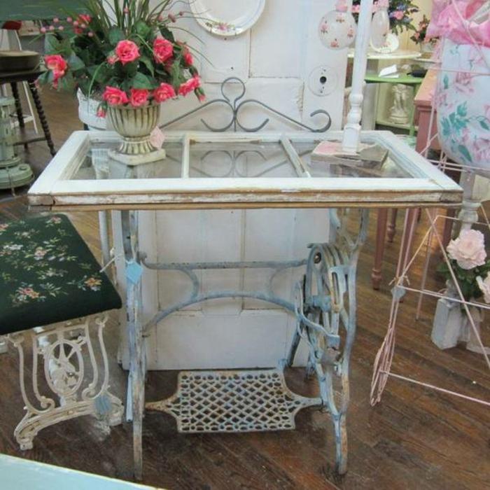 diy table vintage machine à coudre