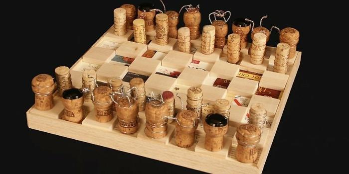 fabriquer échecs bouchons de liège