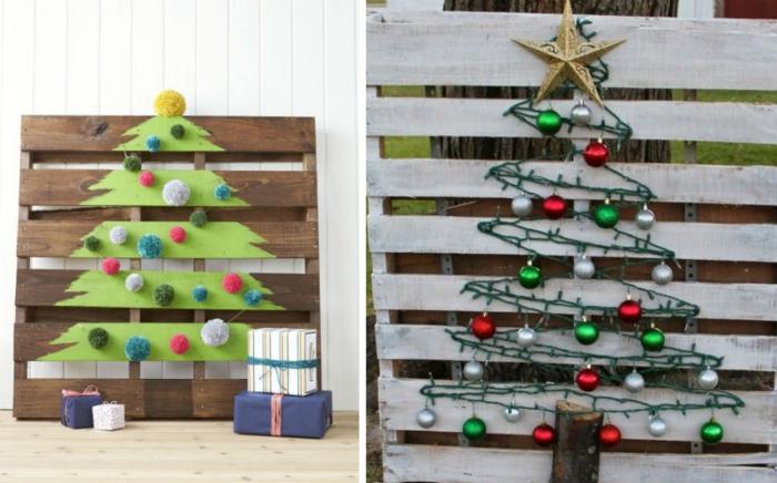 Sapin en palette à fabriquer vous-même pour les fêtes de Noël