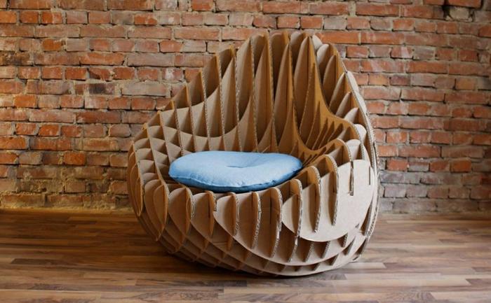 fauteuil meubles en carton
