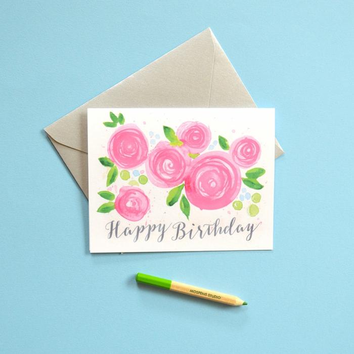 fleurs carte d'anniversaire