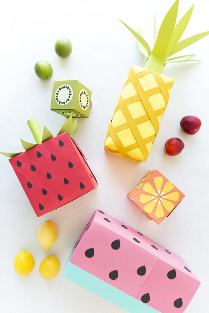 fruits emballer un cadeau